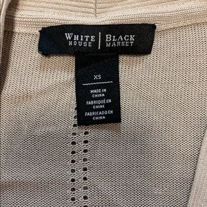 White House Black Market Sweaters - White House Black Marker Tan Cardigan